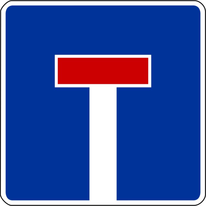 Sackgasse – Verkehrsschild (Zeichen 357)